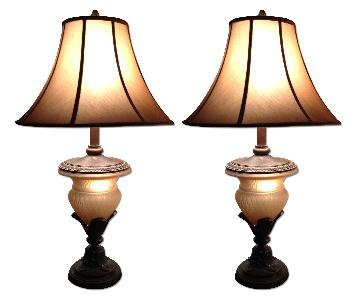 Large Vintage Table Lamps - 2 Available