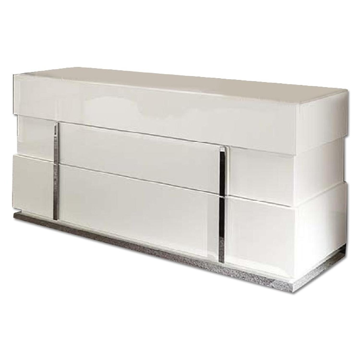 Alf Mystic White 6 Drawer Dresser w/ Mirror - 3 Available