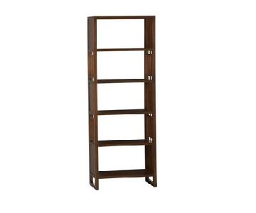 Crate & Barrel Cherry Brown Reveal Bookcase