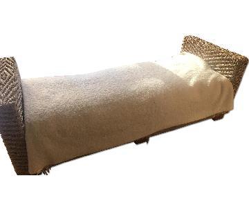 Wicker Chaise Lounge w/ Storage