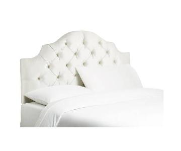 One Kings Lane Henley Tufted Headboard in Cream Pearl Fabric