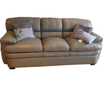 La-Z-Boy Gray Leather Sofa