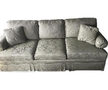 Ethan Allen Traditional Slipcovered Sofa