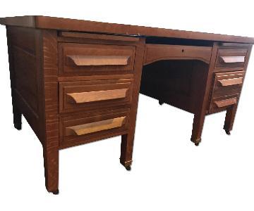 Vintage Mid Century Lawyer's Desk