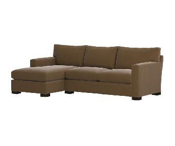 Crate & Barrel Axis Sectional w/ Chaise