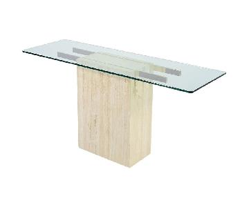 Traviten Marble Console Table