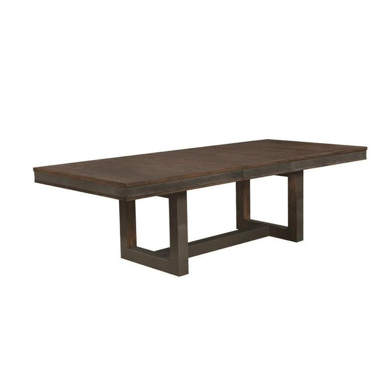 Coaster Vintage Bourbon Wide Dining Table