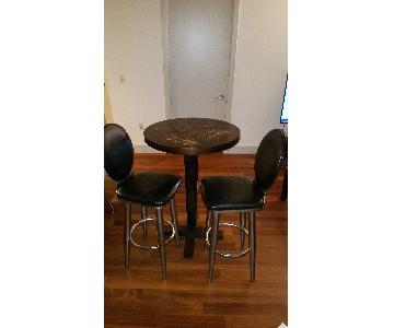 Ashley Leather & Metal Bar Stool