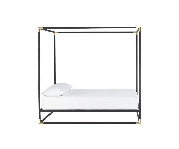 CB2 Canopy Queen Bed Frame