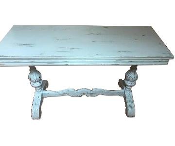 Antique Shabby Chic Folding Top Table Desk