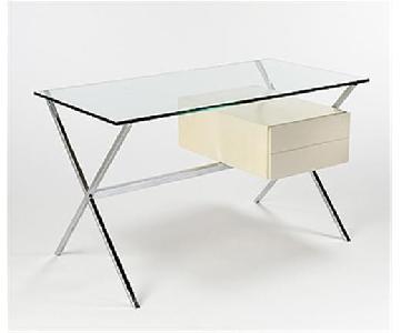 Tui Lifestyle Glass Desk