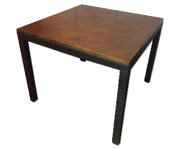 Copper Top Square Dining Table w/ Black Metal Base