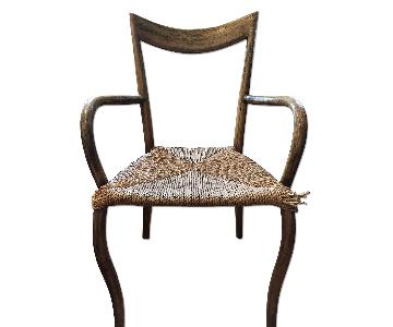 Wood & Wicker Dining Chair