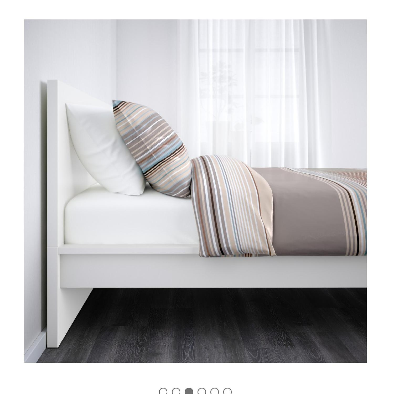 Ikea Malm White Full Size Bed Frame - AptDeco