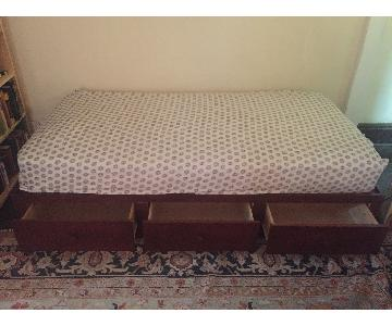 Gothic Cabinet Craft Twin Size Platform Bed w/ Drawers