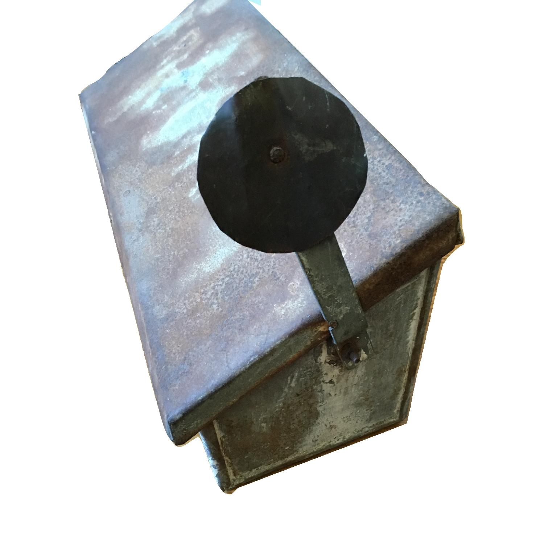 Vintage Galvanized Metal Rustic Storage Mailbox