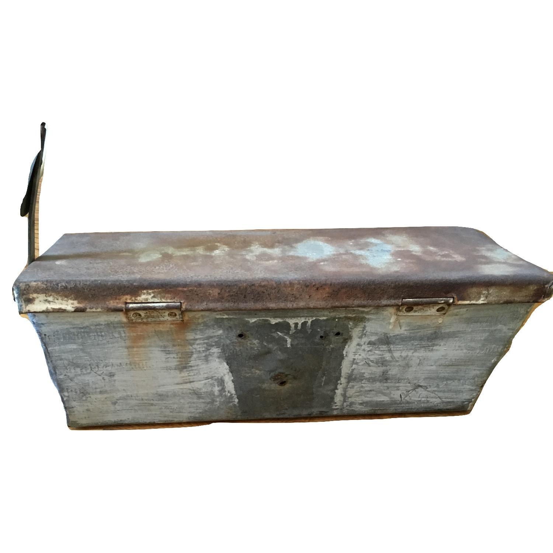 Vintage Galvanized Metal Rustic Storage Mailbox-4