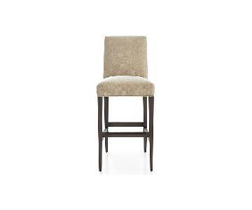 Crate & Barrel Miles Upholstered Bar Stool