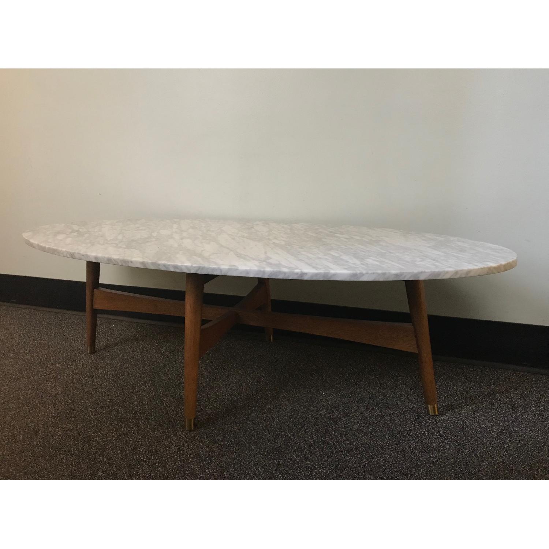 West Elm Reeve Marble Coffee Table-0