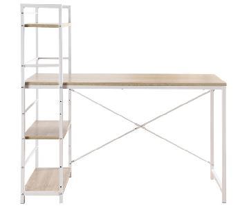 Divina Roma Desk w/ Attached Shelving