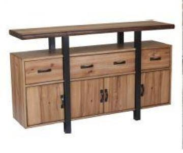 Natural Edge Wide Cabinet
