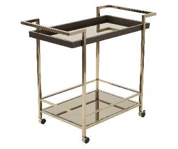 Isabella Gold Bar Cart