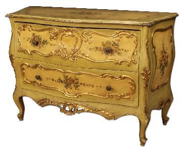 20th Century Venetian Lacquered & Gilt Dresser