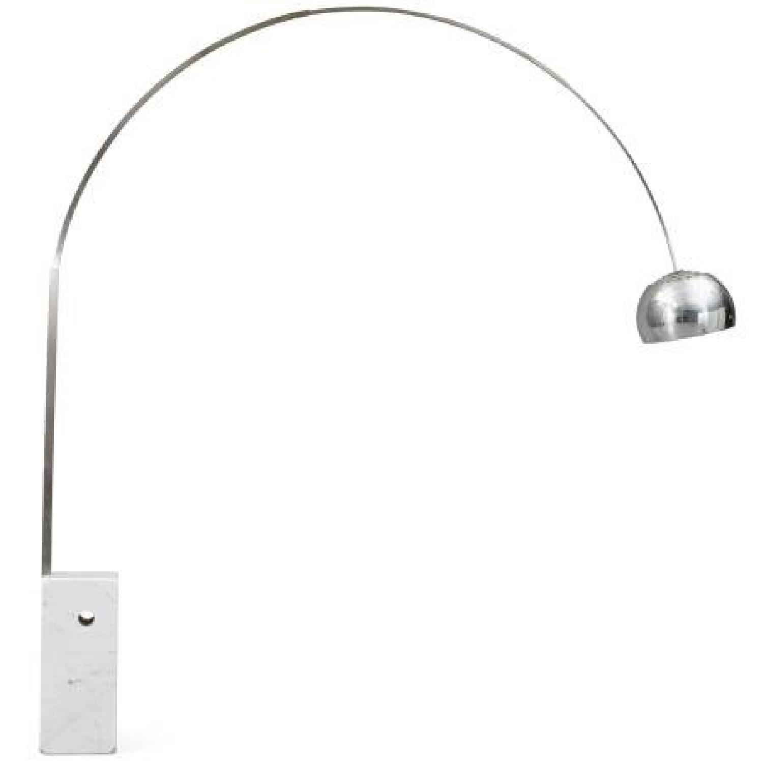 Modani Stainless Steel Arc Lamp w/ Marble Base