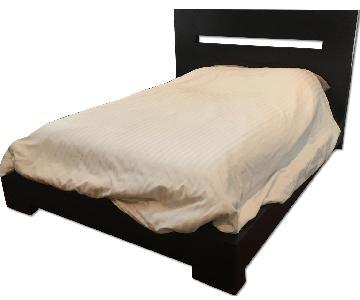 Macy's Modern Dark Wood Queen Bed Frame