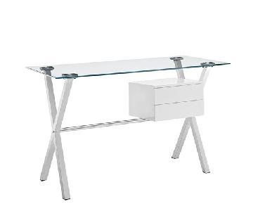 Modway Stasis Glass Writing Desk