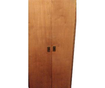 Gothic Cabinet Craft Natural Wood Finish Armoire