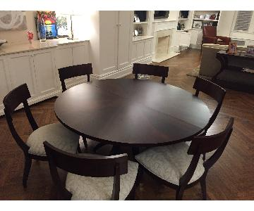 Ethan Allan Ashcroft Dining Table w/ 6 Klismos Chairs
