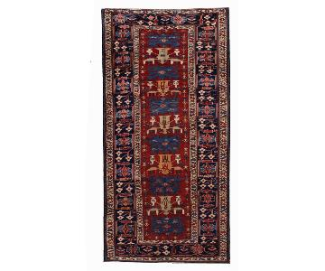 Antique 1880s Caucasian Azerbaijani Shirvan Rug