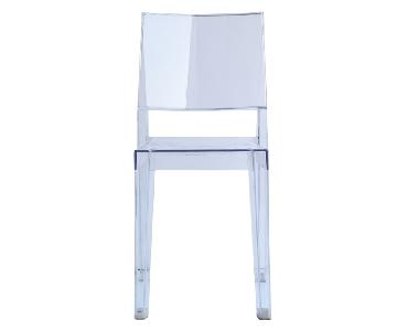 Classic Style Transparent Acrylic Stackable Dining Chair