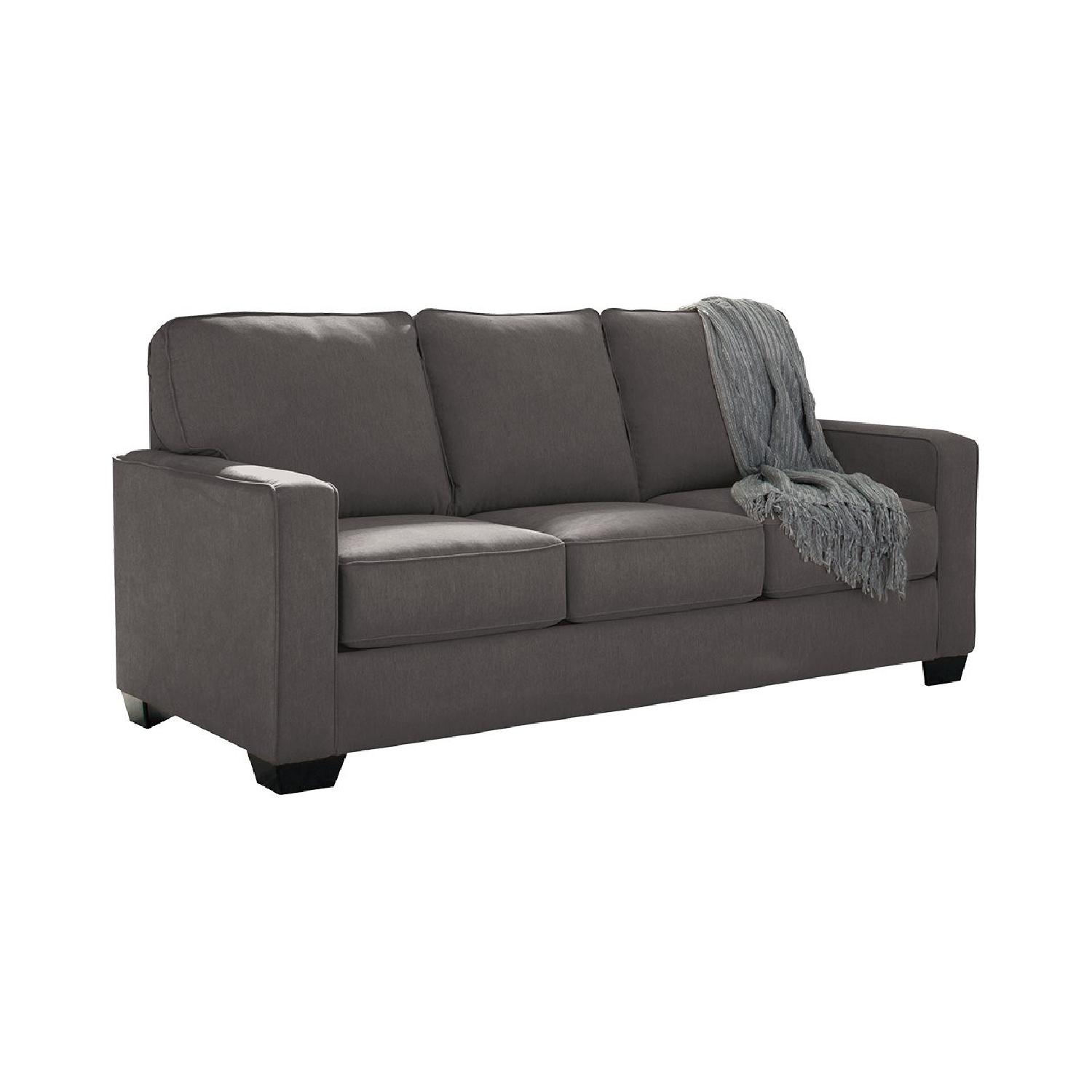 Ashley Furniture Zeb Charcoal Full Sleeper Sofa ...