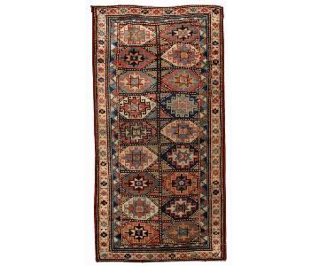 Antique 1880s Caucasian Kazak Mohan Rug
