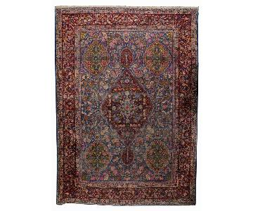Antique 1910s Persian Yazd Rug