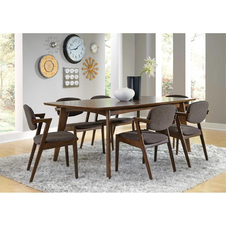 Dark Walnut Wood Wide Dining Table