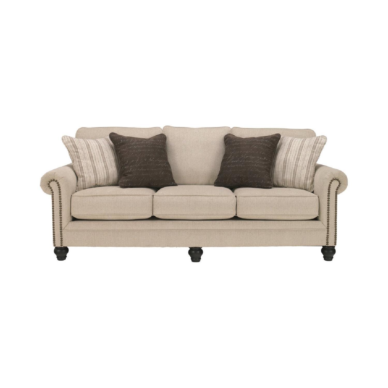 Ashley Furniture Milari Linen Queen Sleeper Sofa Aptdeco