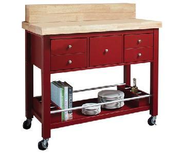 Coaster Red Kitchen Cart