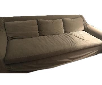 Restoration Hardware Custom Velvet Slipcovered Couch