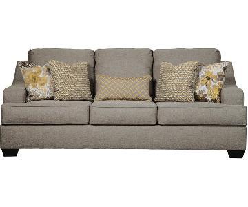 Ashley Furniture Mandee Pewter Queen Sleeper Sofa