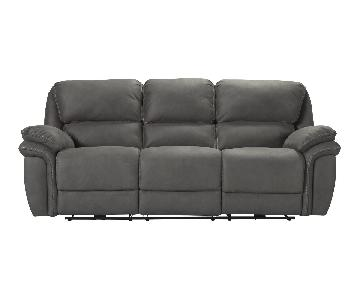 Raymour & Flanigan Skye Microfiber Power Reclining Sofa
