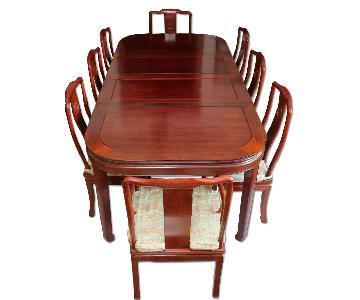 Oriental Furnishings 9-Piece Rosewood Dining Set