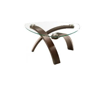 Raymour & Flanigan Allure Glass Coffee Table