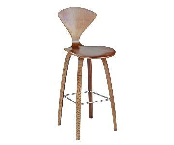 Mid Century Style Plywood Bar Chair in Walnut Finish