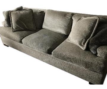 Custom Grey Fabric Sofa