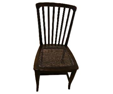 Italian Wood Kitchen Chair w/ Cane Seat