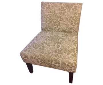Target Avington Armless Chair in Green Floral Pattern
