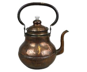 Antique Handmade Hand Hammered Copper Teapot